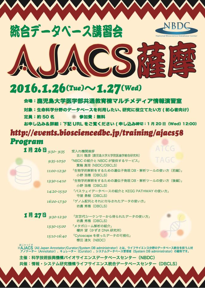AJACS薩摩ポスター